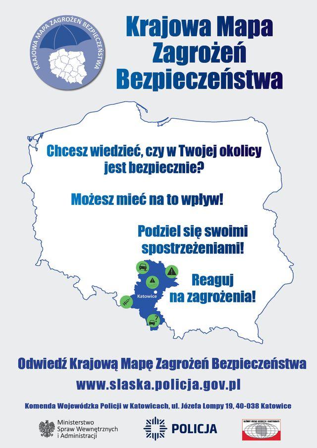 Plakat Krajowej Mapy Zagrożeń Bezpieczeństwa