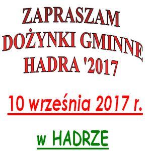 Więcej o: Dożynki Hadra 2017