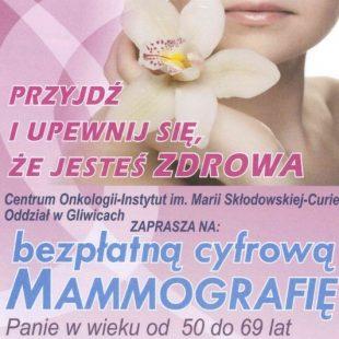 Więcej o: Bezpłatne badania mammograficzne