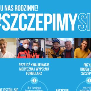Plakat Szczepimy Się - podstawowe informacje dotyczące szczepienia przeciwko COVID-19